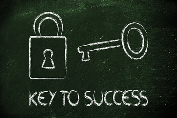 find the key to success, key and lock design