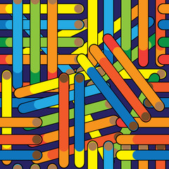 cigarette seamless multicolored pattern