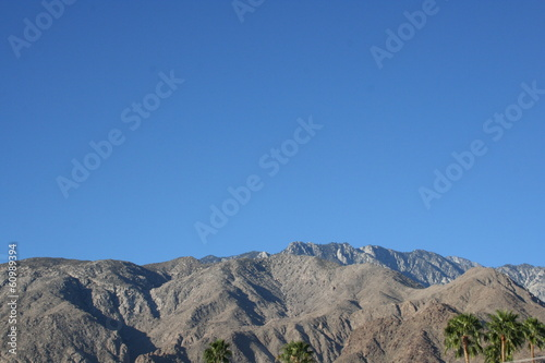 Palm Springs Mountain Range Landscape