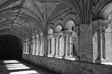 baroque monastery cloister interior