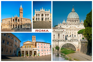 Roma and Vatican: most famous church