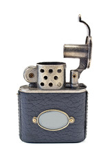 Vintage cigarette lighter  isolated on white