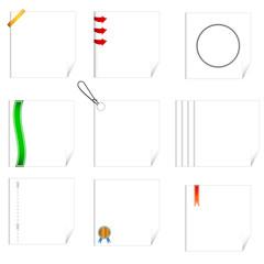 Set of writing-book sheets