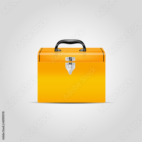 Vector orange toolbox