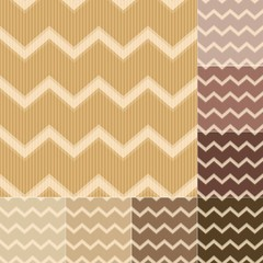 seamless brown chevron pattern