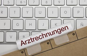 Arztrechnungen. Tastatur