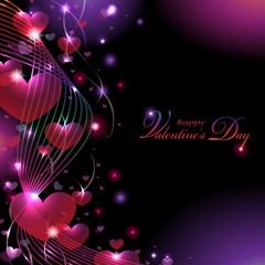 Colorful Valentine's Background