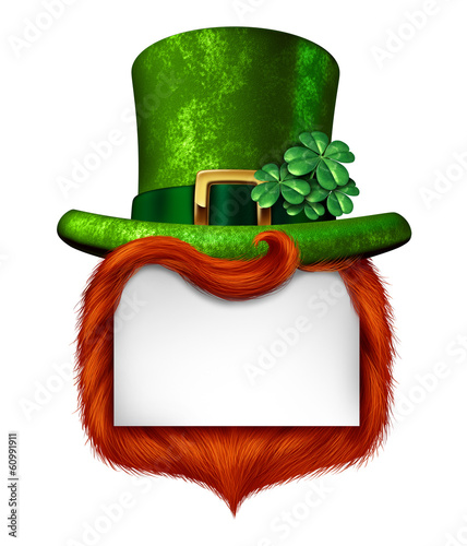 Leprechaun Blank Sign