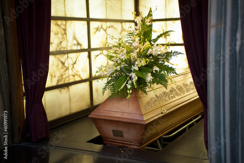 Keuken foto achterwand Begraafplaats Coffin