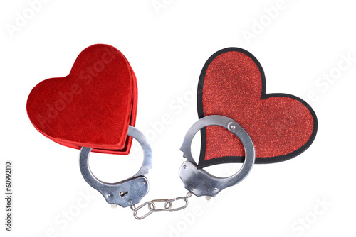 two hearts handcuffed together