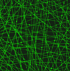 Acid green linear network texture with dots