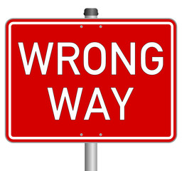 wrong way schild sign  #140202-svg01
