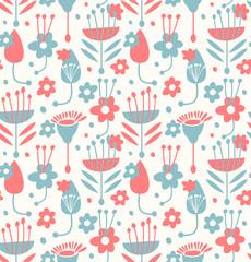 Unusual seamless floral pattern
