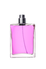 woman perfume in beautiful bottle isolated