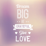 Typo Quote Background - Dream Big