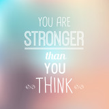 Quote Typo Background - Stronger poster