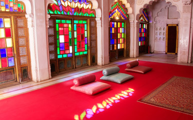 Room within Palace complex, Mehrangarh Fort, Jodhpur, India