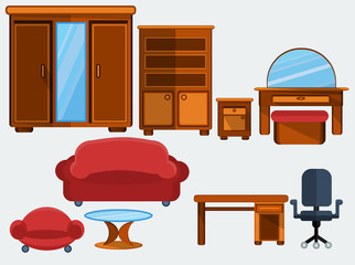 Furniture  flat icon