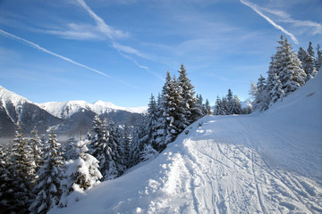 Piste in Alps, Bad Hofgastein, Austria