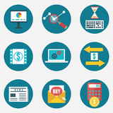Vector flat set of business and management icons - part 2