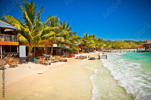 Papiers peints Autre Beautiful beach on Koh Rong island, Cambodia.
