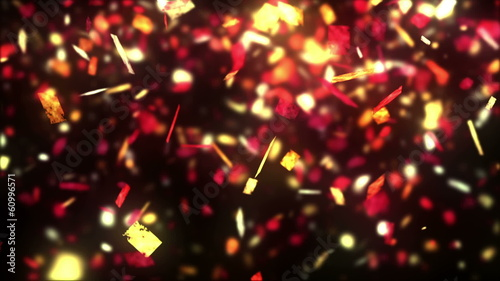 Fiesta. Abstract background with multi color particles