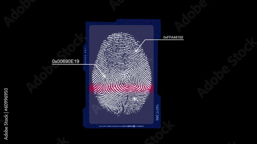 fingerprint with alpha matte
