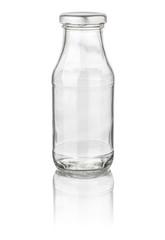 kleine freigestellte Milchflasche