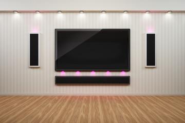 Heimkino Multimedia Anlage mit TV und Lautsprecher