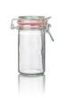 freigestelltes Einmachglas mit Drahtbügelverschluss