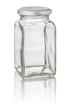 freigestelltes viereckiges Vorratsglas