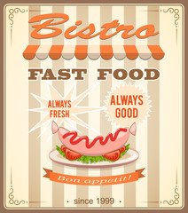 banner for bistro with sausage