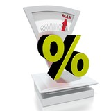 percent sign on a scale