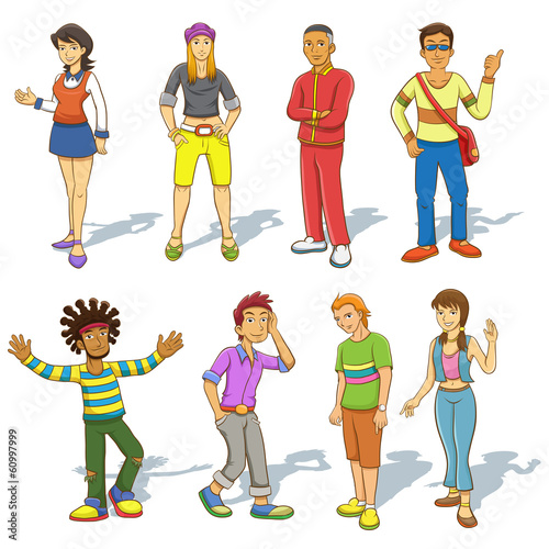 Group of  people cartoon