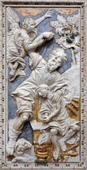Palermo - Baroque relief of Abrahams proof in st. Katherine