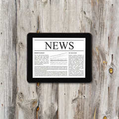 Tablet computer with business news