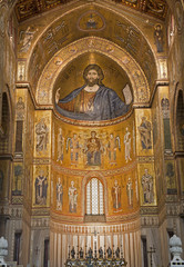 Palermo - Mosaics of main apse of Monreale cathedral.