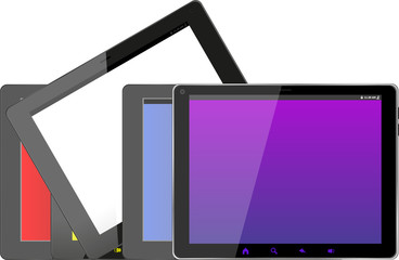 Set of tablet pc computers