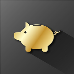 Piggy Bank icon (savings investment money risk capital)