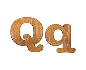 Letter Q wooden.