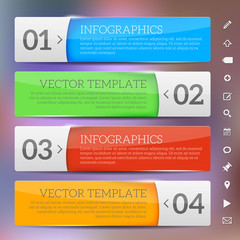 Glossy frames - infographics template
