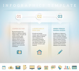 Modern design template for info graphics