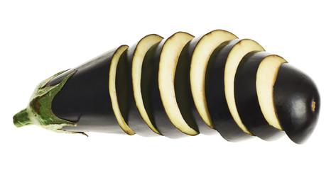 Sliced eggplant isolated