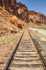 Railway Track Through a Canyon