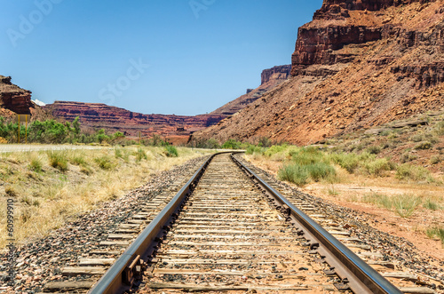 Railway Through a Canyon