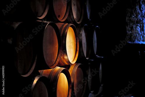 Papiers peints Vin Barrel of wine in winery.