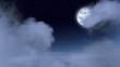Loop Moon in Clouds