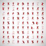 Fototapety Abstract Human Symbols Set. Success, Celebration