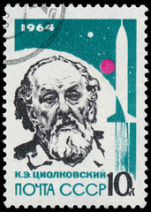 USSR - CIRCA 1964:A post stamp printed by Russia, shows portrait
