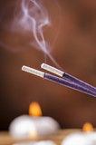 Fototapety incenso fumante alla lavanda
